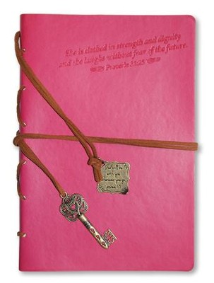 Proverbs 31, Pink Journal with Charm  -