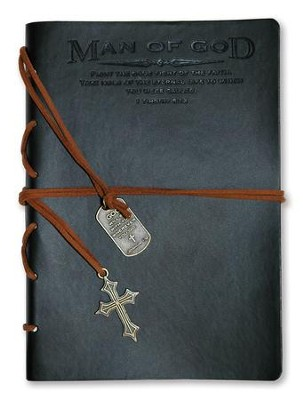 Man of God, Black Journal with Charm  -