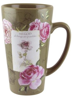 With God, All things Are Possible Mug  -     By: Sandy Lynam Clough