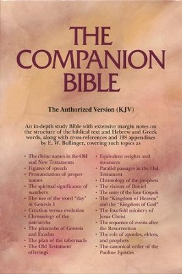 KJV Companion Bible, Bonded leather, burgundy  -