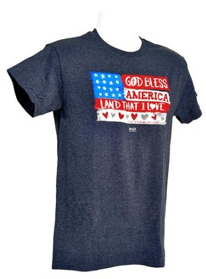 Wooden Flag Shirt, Heather Navy,   Large  -