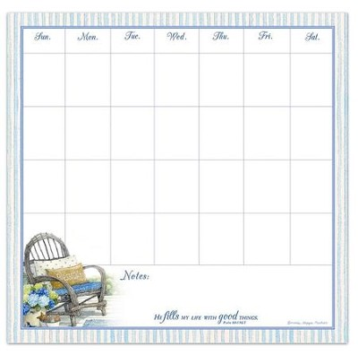 He Fills My Life With Good Things, Weekly Reminder Calendar  -     By: Bonnie Heppe Fisher