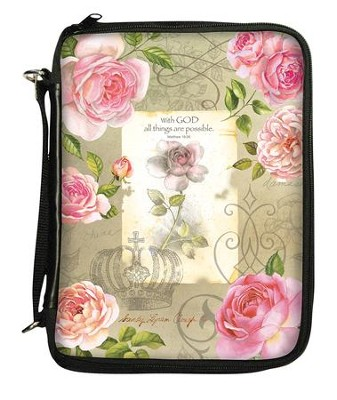 With God, All Things Are Possible Bible Cover Organizer  -     By: Sandy Lynam Clough