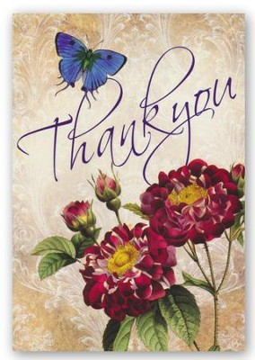 Thank You, Antique Rose Cards, Box of 12  -