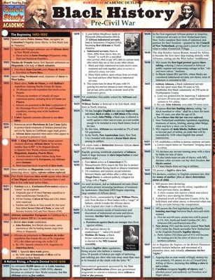 Black History: Pre-Civil War Chart   -