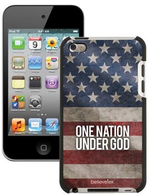 One Nation Under God America Flag iPod Touch 4G Case  -