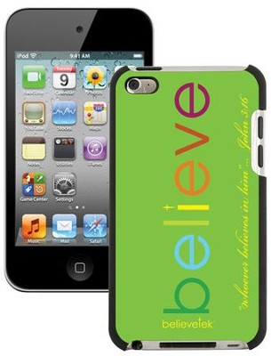 Believe iPod Touch 4G Case, Green  -
