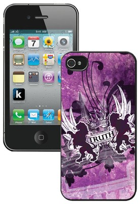 Truth Lion, John 14:6 iPhone 4 Case, Purple   -