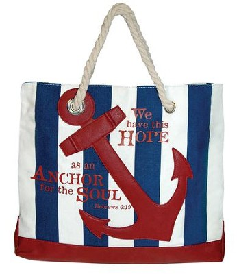 Nautical, Anchor Tote Bag  -