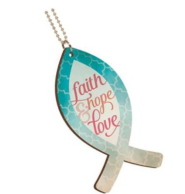 Faith, Hope and Love Car Charm  -