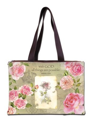 With God All Things Are Possible, Handbag  -     By: Sandy Lynam Clough