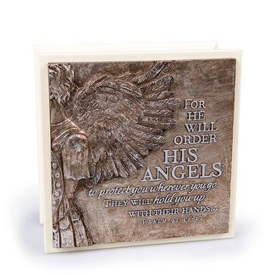 For He Will Order His Angels to Protect You Keepsake Box  -