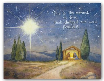 Bethlehem, This Is the Moment In Time, Christmas Cards, Box of 18  -