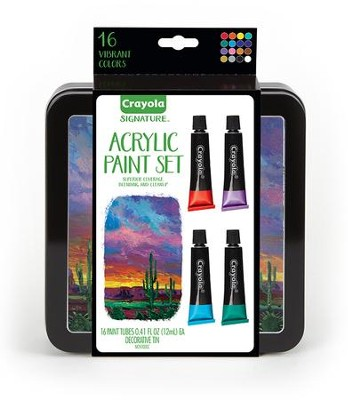 Crayola, Acrylic Paints with Tin, 16 Pieces  -