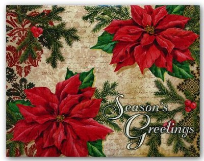 Season's Greetings, Christmas Cards, Box of 18  -