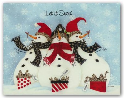 Snowmen, Let it Snow, Christmas Cards, Box of 18  -