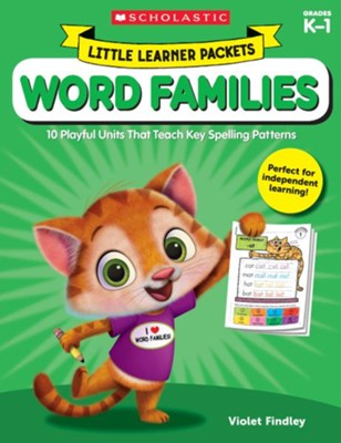 Little Learner Packets: Word Families: 10 Playful Units That Teach Key Spelling Patterns  -     By: Violet Findley