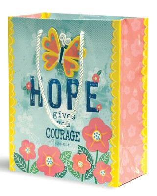 Hope Gives You Courage Gift Bag, Medium  -