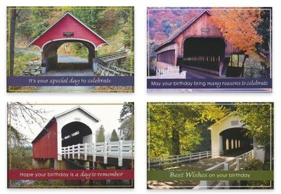 Covered Bridges, Birthday Cards, Box of 12  -