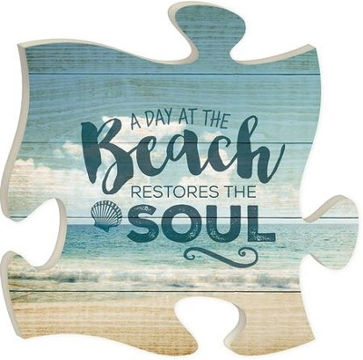A Day At The Beach Restores the Soul, Puzzle Picture   -