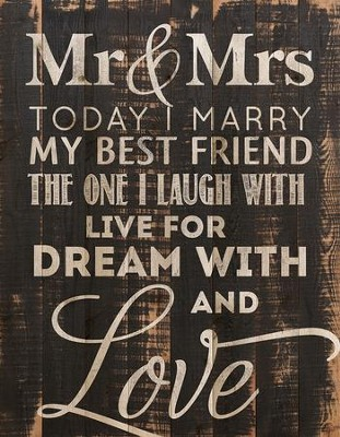 Today I Marry My Best Friend, Wall Art  -