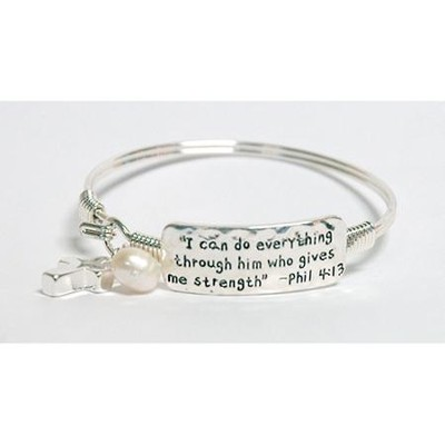 I Can Do Everything Bracelet, Silver  -
