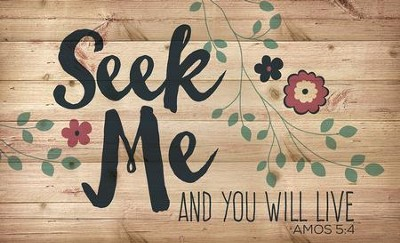 Seek Me, Lath Wall Art  -