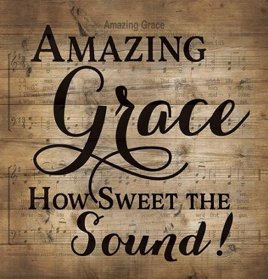 Amazing Grace, Lath Wall Art  -
