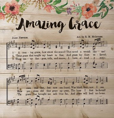 Amazing Grace Wall Art amazing grace music, lath wall art - christianbook