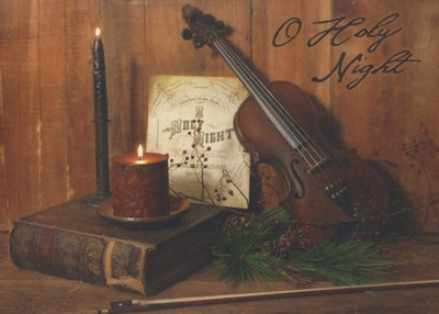 Violin, O Holy Night (KJV), 20 Count Boxed Christmas Cards  -