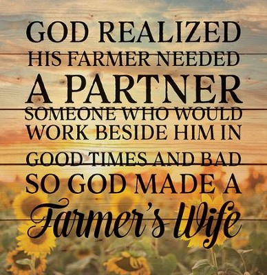 A Farmer's Wife, Rustic Wall Art  -