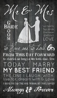Always and Forever Rustic Wall Art  -