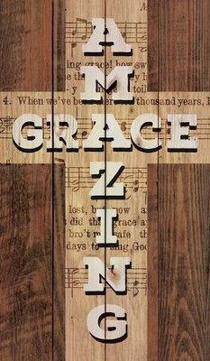 Amazing Grace Cross, Rustic Wall Art  -