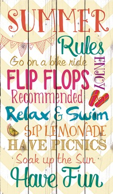 Summer Rules, Rustic Wall Art  -