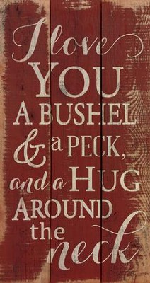 Bushel and Peck, Rustic Wall Art  -