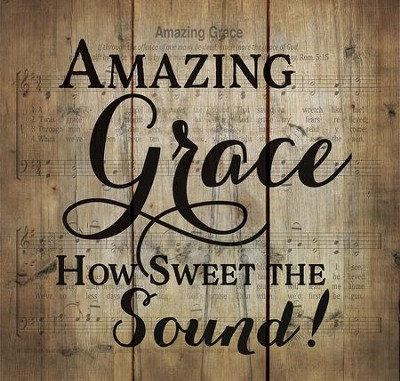 Amazing Grace, Rustic Wall Art, Small  -