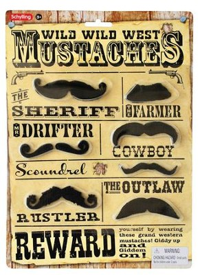 Dress Up Western Mustaches  -