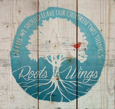 Roots and Wings, Rustic Wall Art  -
