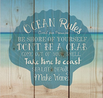 Ocean Rules, Rustic Wall Art  -