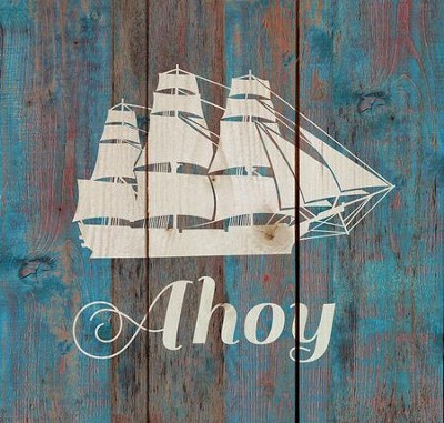 Ahoy, Rustic Wall Art  -