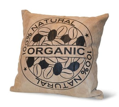 100% Natural Organic, Suede Leather Pillow  -