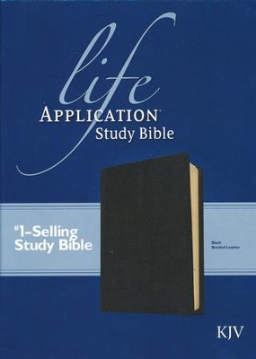 KJV Life Application Study Bible, Bonded leather, Black  - Imperfectly Imprinted Bibles  -