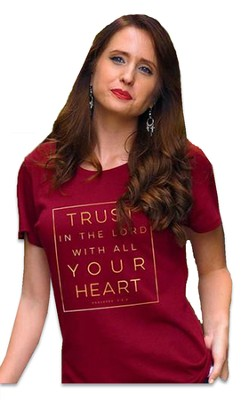Trust in the Lord Shirt, Burgundy,     -