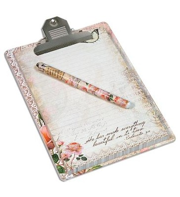 He Has Made Everything Beautiful In Its Time Clipboard Gift set  -
