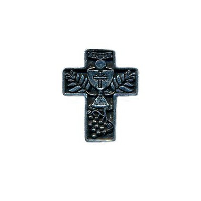 Cross Chalice and Grapes, First Communion Lapel Pin   -
