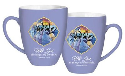 With God, All Things Are Possible Mug, Purple  -     By: G Perkins