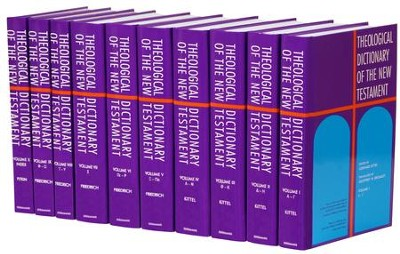 Theological Dictionary of the New Testament, 10 Volumes   -     Edited By: Gerhard Kittel, Gerhard Friedrich, Geoffrey W. Bromiley     By: Edited by Gerhard Kittel, translated by G.W. Bromiley