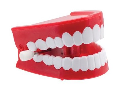 Wind Up Chattering Teeth Toy  -