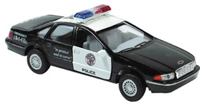 Die-Cast Police Camero with Pull Back Motor  -