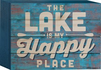 The Lake Is My Happy Place Tabletop Art  -